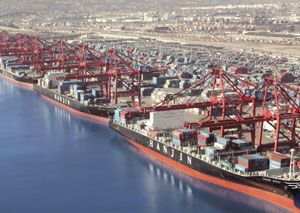 image: Hanjin South Korea Australia UK US container shipping line ships vessels terminal Long Beach bankruptcy Samsung