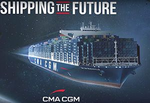 image: France container shipping line TEU CMA CGM MacAndrews OPDR multimodal terminal