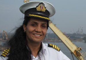 image: Captain Radhika Menon India bravery IMO India merchant navy oil products tanker