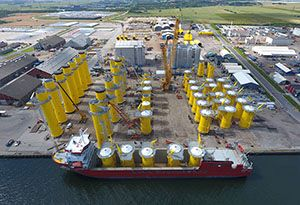 image: Martin Bencher Denmark Germany Baltic Arkone wind farm freight forwarding project energy ocean going