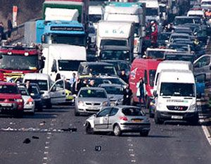 image: UK road haulage truck driver commercial HGV road traffic accident
