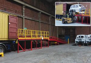 image: UK China logistics handling loading London Taxi Fare freight forwarders Levaton