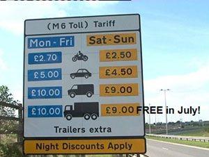 image: UK road haulage road tolls M6 freight haulier Midland Expressway