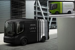 image: UK, Waitrose, John Lewis, biomethane, CO2, emissions, electric, vans. HGV,