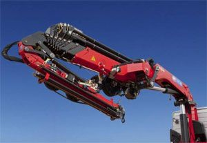image: UK truck mounted crane tonne load
