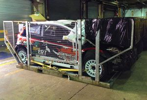 image: UK Argentina World Rally air freight forwarder shipping Ford Fiesta RS M sport logistics cargo