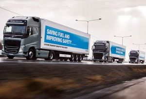 image: Europe EU Truck Platoon Challenge Autonomous Vehicle Trials HGV Volvo, DAF, Daimler, Iveco, MAN and Scania