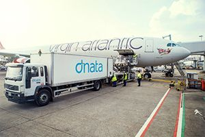 image: Virgin Delta Cargo dnata Heathrow London airlines UK freight