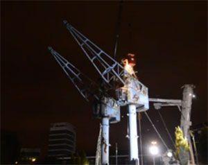 image: UK Frasier Niles cranes shipping heritage dockside landmarks