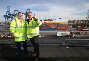 image: UK Prologis Tilbury port freight logistics warehouse Thurrock London Gateway
