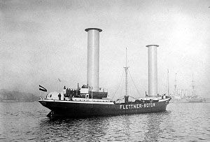 image: UK Flettner rotor merchant shipping freight lines