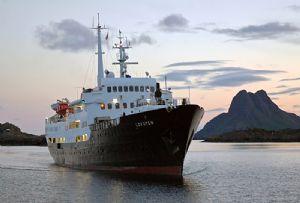 image: Hurtigruten, MS Lofoten, S�rlandet, vessel, Covid-19, ship, cruise, school, holiday, retirement, Roald Amundsen,