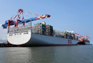 image: China OOCL OOIL container ships vessels box TEU shipping