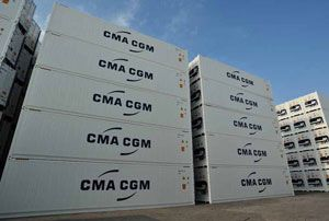 image: CMA CGM freight container line TEU transhipment cargo French West Indies Europe Zeebrugge Rotterdam