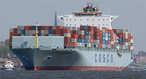 image: Cosco, container, China, shipping, line, vessel, charter, bulk, carrier, cargo, fleet, Maersk
