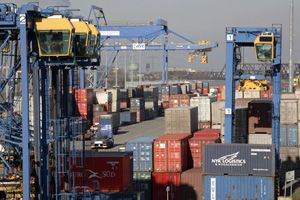 image: Europe multimodal freight container shipping intermodal rail cargo short sea road haulage