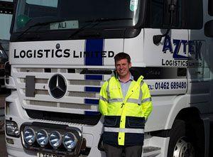 image: Aztek 3PL logistics pallet track artic warehouse storage
