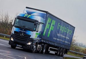 image: Canada UK Volvo Mercedes Benz freight road haulage