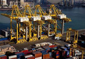 image: Dubai port container TEU freight terminal construction Jebel Ali T4 quay reclaimed land island