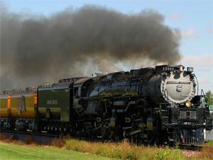 image: US rail freight diesel emissions road haulage cargo locomotive