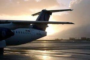 image: DHL logistics air freight cargo terminal