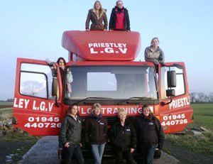 image: UK seeking women freight logistics lady truckers supply chain