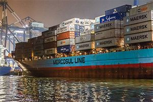 image: Brazil France Denmark feeder box carrier domestic cabotage shipping line CMA CGM Maersk container door to door