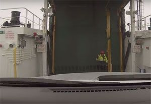 image: UK freight RoRo ferry maritime staff ITF RMT Canada Scotland dockers seafarers CalMac Caledonian MacBrayne