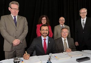 image: DP World Canada container freight terminal berth gantry crane St John Port logistics