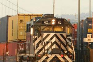 image: US intermodal freight Indianapolis Indiana Louisville Kentucky Norfolk Southern CSX