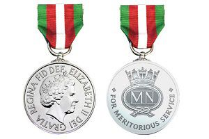 image: UK merchant navy medal
