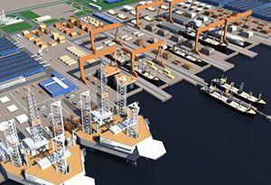 image: Saudi Arabia shipbuilding yard shipping company line Bahri