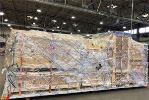 image: US WFS Worldwide Flight Services BioNatur� Plastic M&G Packaging cargo handler air freight supply chain biodegradable