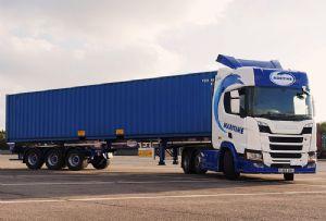 image: UK Maritime Dennison skeletal trailers container haulage