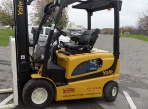image: UK Briggs Yale hydrogen road haulage freight fleets fork lift truck electrolyser Swindon Honda Lithium