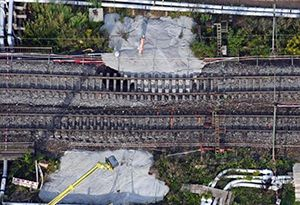 image: German Rail Tunnel Collapse HS2 freight trains track deforming subsidence