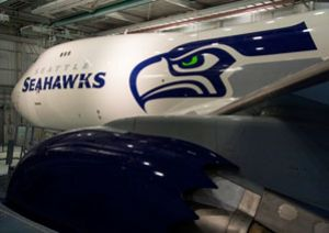 image: Seattle Seahawks fun facts Super Bowl XLVIII at the MetLife Stadium New Jersey Being 747-8 freighter