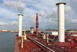 image: Denmark Maersk Shell ETI UK Finland Norsepower Flettner rotor sails