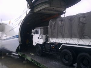 image: Japan Uganda Sudan heavy lift air freight project cargo containerised
