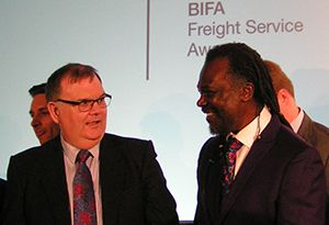 image: UK British International Freight Association awards logistics forwarding Levi Roots Reggae Reggae sauce