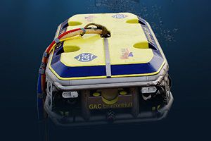 image: HullWiper Remote Underwater Hull Cleaning System ROV logistics