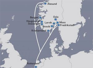 image: Netherlands Norway container shipping reefer multimodal short sea
