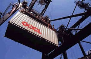 image: Hong Kong TEU shipping container containerships