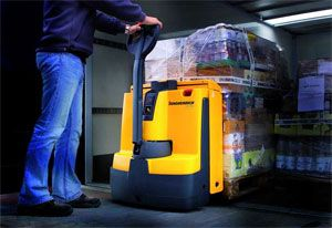 image: UK shipping fork lift pallet truck noise pollution freight consolidator exporter