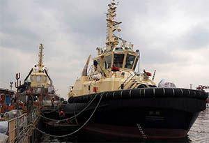 image: Rolls-Royce Svitzer Denmark Tug autonomous commercial vessel harbour dock