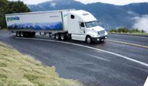 image: US Third Party Logistics 3PL truck trucker