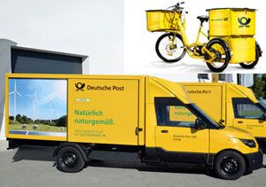 image: Germany DHL StreetScooter lithium freight logistics Work an electrified bicycle
