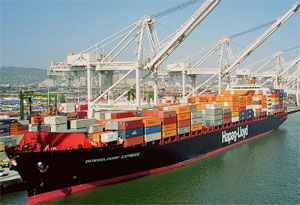 image: Germany container shipping line sea freight TEU boxes