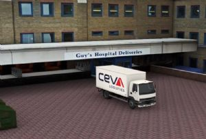 image: UK logistics Guys and St Thomas CEVA delivery warehouse distribution