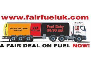 image: UK fuel price campaign freight logistics haulage haulier